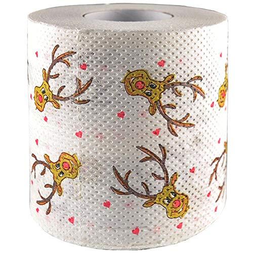 Toilettenpapier Weihnachten, Weihnachtsbaum Elch bedruckt WC-Rolle Papier Tissue - Yves25Tate - Elch Wc