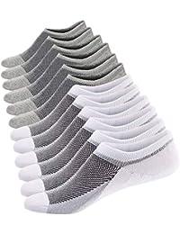 Ueither Calcetines Cortos Mujer Invisibles Respirable Calcetines tobilleros Algodón Antideslizantes