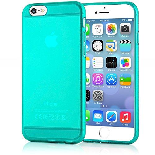 delightable24 Cover Case in Silicone TPU per Smartphone APPLE IPHONE 6 / 6S - Turchese Verde