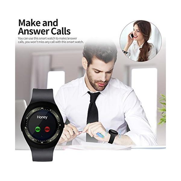 Fitness Tracker,Gearlifee IP68 Waterproof Reloj pulsera con monitor de ritmo cardíaco, presión arterial, oxígeno en la sangre, monitor de sueño, SMS, podómetro para iPhone Android(Banda de acero) 5