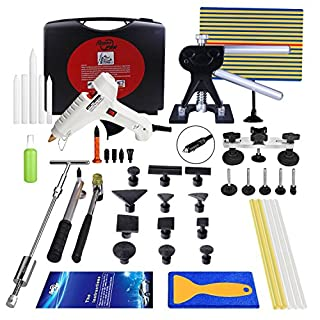 2017 Super PDR Car Auto Body Dent Repair Tool Removel Paintless Hail Damage Puller Lifter Glue Gun Sticks Black Box Sets DIY 44Pcs Kits