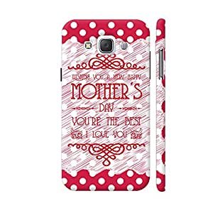 Colorpur Wishing You A Happy Mother's Day On Red Polka Dots Designer Mobile Phone Case Back Cover For Samsung Galaxy E5 | Artist: Designer Chennai