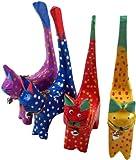 Guru-Shop Deko Katze, Buntes Katzenset, 10x5x2 cm, Kleine Tierfiguren