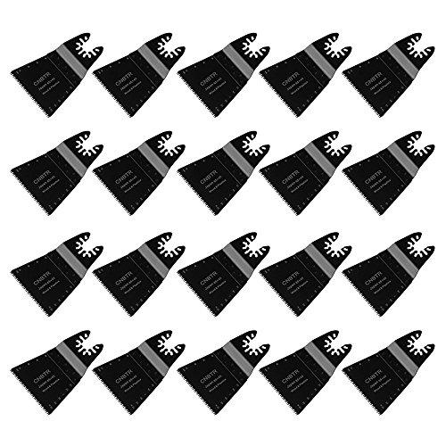 cnbtr schwarz 65x 40mm Japanische Zahn Form Carbon Stahl Sägeblatt Pendelndes Multitool Präzision Quick Release Sägeblätter Set von 20