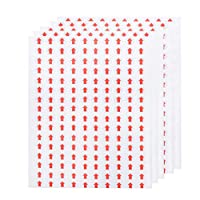 NUOBESTY Self Adhesive Arrow Dot Stickers Labels Removable Small Product Inspection Defect Indicator Tape for Maps, Reports, Projects - 40 Sheets, 10mm, Red
