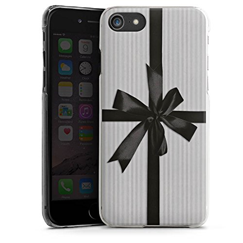 Apple iPhone X Silikon Hülle Case Schutzhülle Geschenk Schleife Grau Hard Case transparent