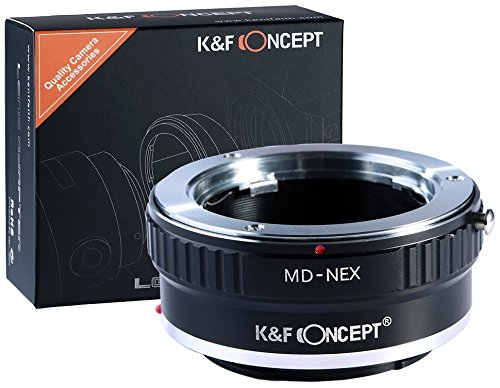 K&F Concept Minolta MD MC Objektivadapter kompatibel mit Sony NEX Alpha E-Mount Adapter | Adapterring Kamera Ring Objektiv MD-NEX MD/MC (Kamera-objektiv-ring)
