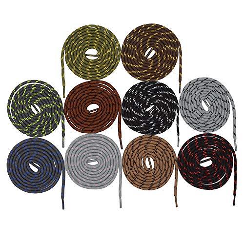 10 paia di corde tonde forti con lacci da scarpe Lacci sostitutivi antiscivolo Resistenti e durevoli Arrampicata all'aperto Alpinismo Trekking Stringhe da merletto per scarponi da lavoro sportivi