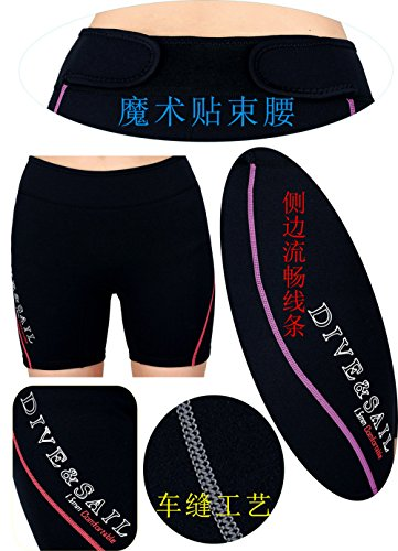 A Point 1,5 mm Neopren Tauchen Shorts Dick Warm Pants Imprägnierung Shorts Trunk Schnorcheln Winter Schwimmen Hose - women's purple