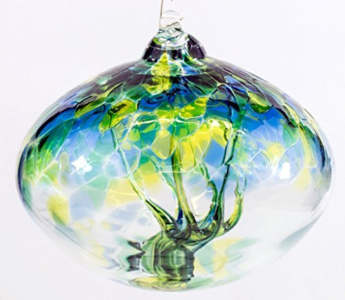 The Milford Collection Orb Arbre de Vie Petit Globe de Verre - Vert d'eau par Collection Milford