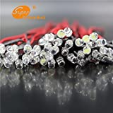 #6: Generic yellow: 20 PCS LED 5mm Pre-Wired White Red Blue Green Yellow White RGB Pre wired 3-6V DC Light Bulb led lamp Emitting Diodes 20CM