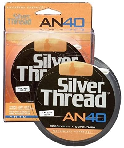 Pradco Silver Thread AN40 Filler Spool Fishing Line-300 Yards (Silver, 10-Pound Test)