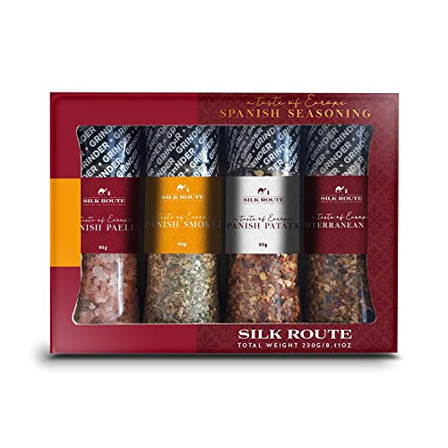 Silk Route Spice Company Spanish Spice Journey Gift Set (4 x 100ml Grinders)