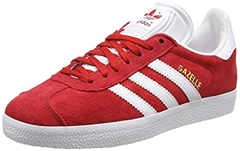 adidas Gazelle, Baskets Basses Mixte Adulte, Rouge (Power Red/White/Gold Metallic), 38 2/3 EU