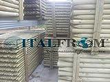 ITALFROM Pali in Legno di Pino Palo Tornito Impregnato Trattato per Recinzione Staccionata Steccato ø 6 H150 4669