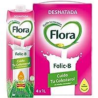 Flora Folic B Desnatada - 1 L (Pack de 4)