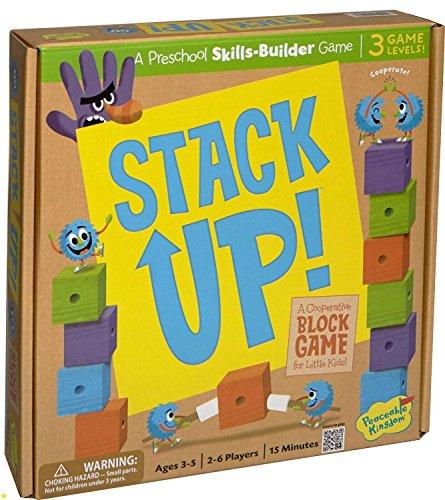 Peaceable Kingdom Stack Up! Award Winning Preschool Skills Builder Game