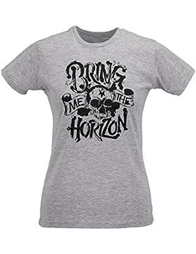 Camiseta Mujer Slim Bring Me The Horizon Skull Artwork - Maglietta 100% algodòn ring spun LaMAGLIERIA