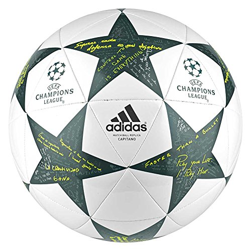 adidas Ucl Finale 16 Fußball, White/Vapour Steel/Tech Green, 5