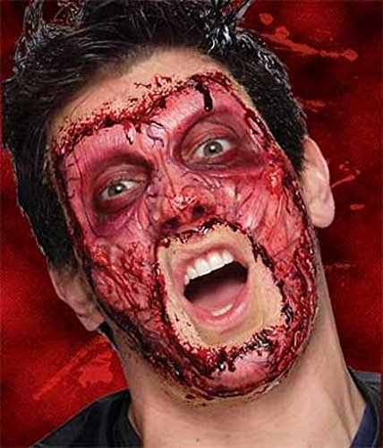 Horror-Shop Skinned Schaumlatex-Applikation als Halloween Make-up Effekt
