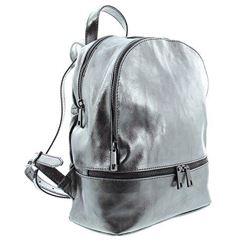 IO.IO.MIO Borsetta per le Icone® - Borsa a Zainetto Donna dark silver (dunkel silber metallic)