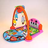 baby play mat musical kick to play piano lights & sounds activity playmat. Available in blue or pink. (Pink)