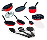 #10: Kumaka Premium 2.6mm Thickness 7 pcs Non-stick Cookware Set with 3 Nylon heatproof spoons