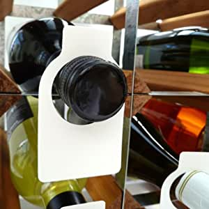 Wine Bottle Neck Tags Plastic x 100 by Vinology