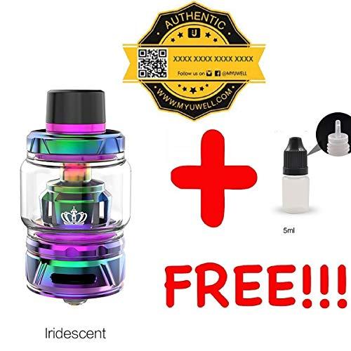 [100% AUTHENTISCH UWELL Crown 4 IV verdampfer 5/6ml Multicolor erhältlich + 1 FREI eliquid Leere Flasche 5ml DansLesVapes® (4 Dampfer)
