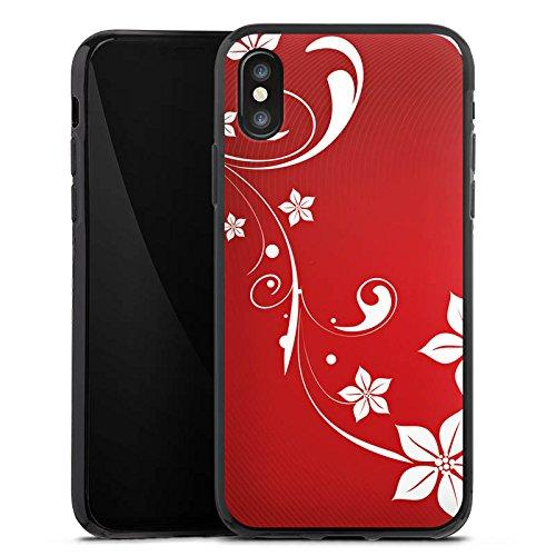 Apple iPhone X Silikon Hülle Case Schutzhülle Liebe Herz Muster Silikon Case schwarz