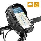 OUNDEAL Bolsa Bicicleta Cuadro, Impermeable Bolso Manillar Bici con Pantalla Táctil Sensible, iPhone XS MAX/XR/X/8Plus Samsung S9/S8 hasta 6,5'' Smartphone