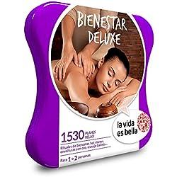 LA VIDA ES BELLA - Caja Regalo - BIENESTAR DELUXE - 1530 planes relax como rituales, envolturas con oro, masajes y muchos más