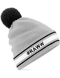 TeddyT's Personalised Men's Retro Stripy Sports Bobble Beanie Hat