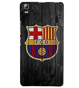 Citydreamz FCB/Football/Barcelona/Sports Dark Hard Polycarbonate Designer Back Case Cover For Lenovo K3 Note