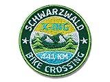 Club-of-Heroes 2 x Stick Abzeichen 52 mm rund/Schwarzwald Bike-Crossing, Mountainbike X-ing/Applikation Aufnäher Aufbügler Flicken Bügelbild Logo Patch für Kleidung und Rucksack