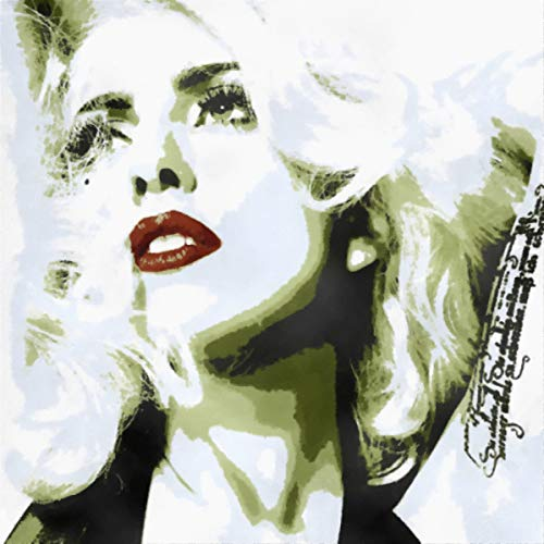 Lady Gaga (Stefani Joanne Angelina Germanotta)-Modernes Bild handgemalt-Pop Art Effect (Format 40x 40cm)