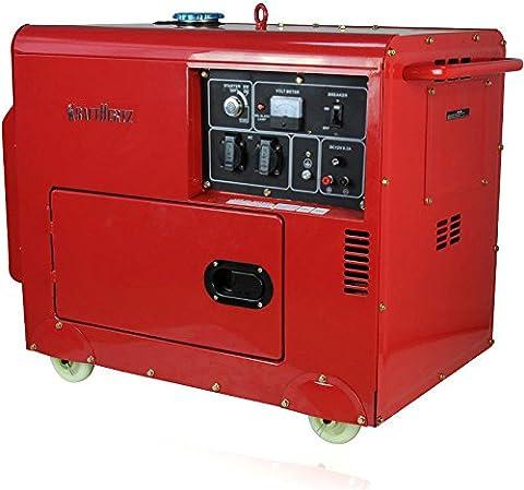 Force Hertz® Groupe électrogène Diesel 230V Générateur 5500W (5,5kW) Diesel aggregat