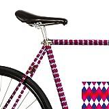 MOOXI-BIKE Fahrrad-Folie Harlequin Heights - Bunte Rauten (ausreichend für Teilbereiche)