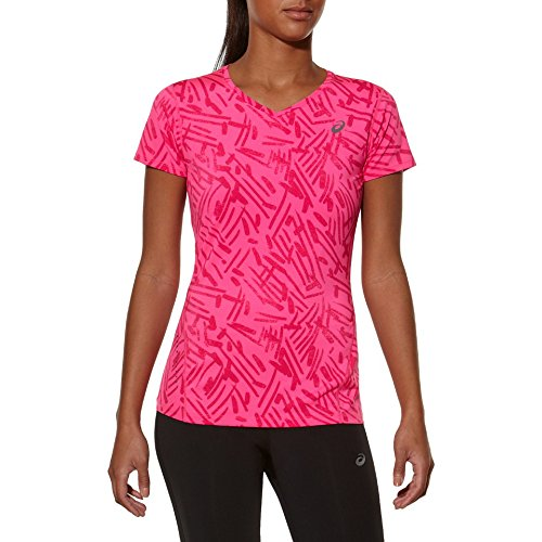 Asics Allover Graphic Women's Course à Pied T-Shirt - AW15 pink
