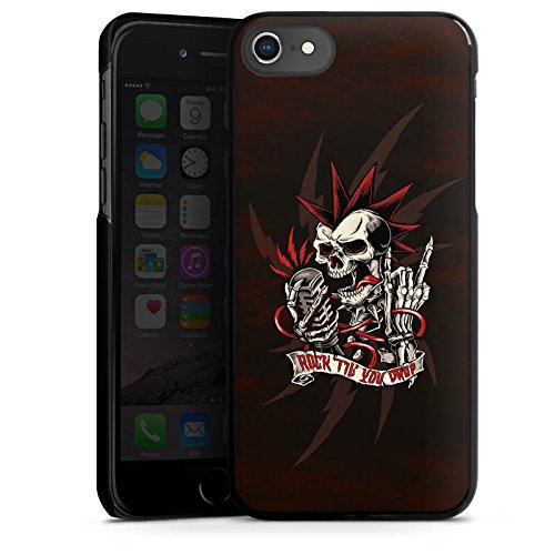 Apple iPhone 6s Silikon Hülle Case Schutzhülle Totenkopf Rock Musik Hard Case schwarz