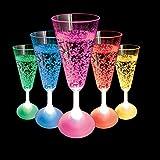 Copa de champán con luz