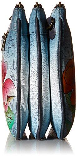 Anuschka peint à la main de luxe en cuir -570Triple Compartiment Bandoulière., Floral Fantasy (Multicolore) - 570-FFY Floral Fantasy