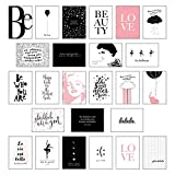 Schönes Postkarten Set mit 25 modernen und stylishen Postkarten zum Dekorieren oder Verschenken. Feminine Bilder, Sprüche und Statements für Frauen. Hochwertige Spruchkarten in dekorativer Box. - Lisa Wirth