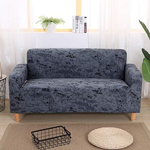 Volltonfarbe Sofabezug,Stretch Staub-Beweis Couch-Abdeckung Mode Möbel Protektor Sofa Slipcover Für 1 2 3 4 Kissen Couch-schwarz DREI Sitze