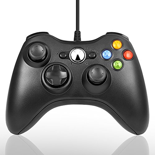 PC Controller, Maexus Wired Gamepad für Xbox 360 Windows Micsoft (Windows XP, Vista, 7, 8, 8.1, 10), Schwarz