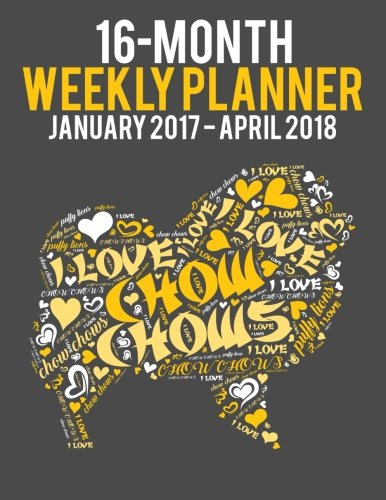 wordcloud-chow-chow-2017-2018-weekly-planner-daily-diary-monthly-yearly-calendar-volume-15