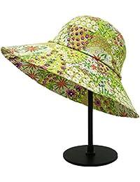 a36f07ba99ff6 Zhou Yunshan Versión Coreana del Verano de la decoración de la Flor Sombrero  de Paja Sombreros