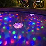 Ailiebhaus Pond Light LED Swimming Pool Waterproof Floating Lights with 5 Different Light Colors for Party Hot Hub Disco