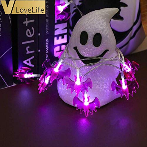 Herr Vampir Kostüm Lego - WSJDE 3 Mt 20 LEDs Laternen Lampe Für Halloween Decor Hängen Lichterketten Horriable Lila Fledermaus Lampe Outdoor Home Decor