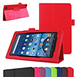 Fire 7 5th Generation Case,Mama Mouth PU Leather Folio 2-folding Stand Cover with Stylus Holder for 7